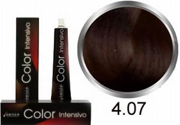 Carin  Color Intensivo nr 4,07 middenbruin natuur kastanje
