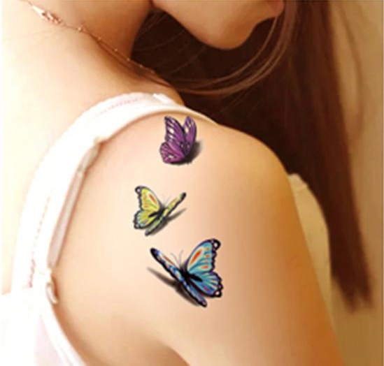 3-D Butterfly Body tattoo