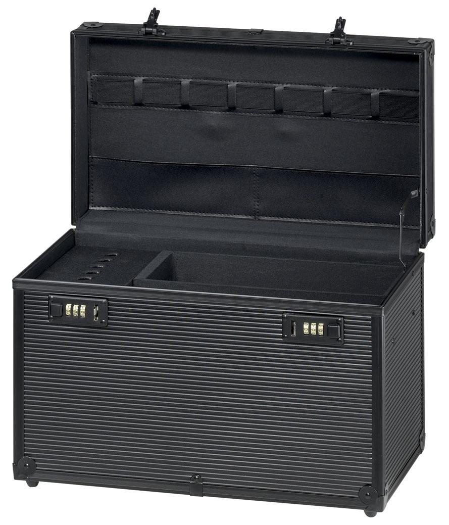 "Apparatenkoffer Aluminium (zwart) ""Profi"""