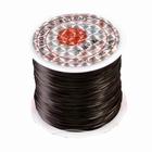 Elastisch rekbar Garn , 10 Meter, Ø 0,8 mm.,Farbe: Schwarz