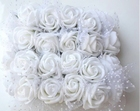 Rose PE foam Ø 2.2 cm, Color: White
