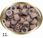 Micro Ring aluminium siliconen type kleur *11-Licht Bruin