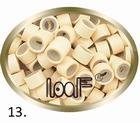 Micro Ring aluminium silikonen type, kleur *13-Blond