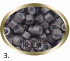Micro Ring aluminium silicone type, color *3-Dark Brown
