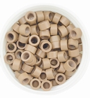 Micro Ring aluminium screw type, kleur *8-Donker Blond
