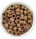 Micro Ring aluminium screw type, color *11- Light Brown