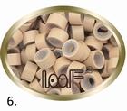 Micro Ring aluminium siliconen type, kleur *6-Grijs Blond