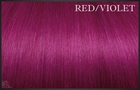 EuroSo.Cap Crazy color extensions, 50-55 cm. Red/Violet