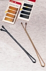 Roller pins hairgrips, Colour: Bronze