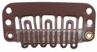 Small U-shape clip, color: Brown