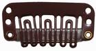 Smalle U-shape clip, kleur Donker Bruin