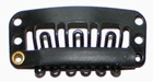 Medium U-shape clip, kleur Zwart