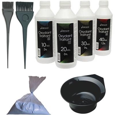 Blondeerpoeder/Peroxide/Gereedschap