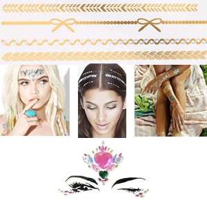 Flash Tattoos (face-body-hair) NEW