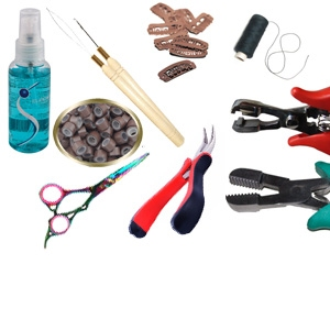 Tools Hairextensions and wefts